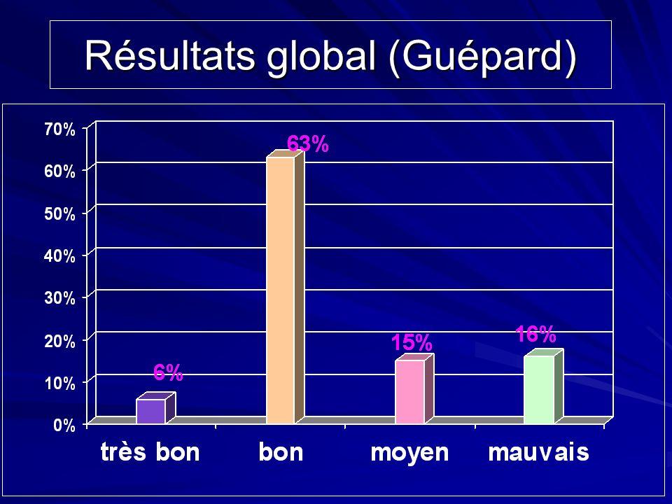 Résultats global (Guépard)