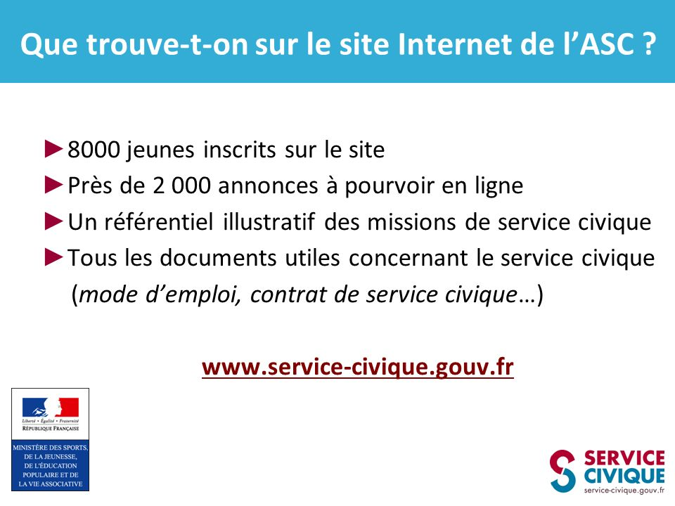 Que trouve-t-on sur le site Internet de l'ASC