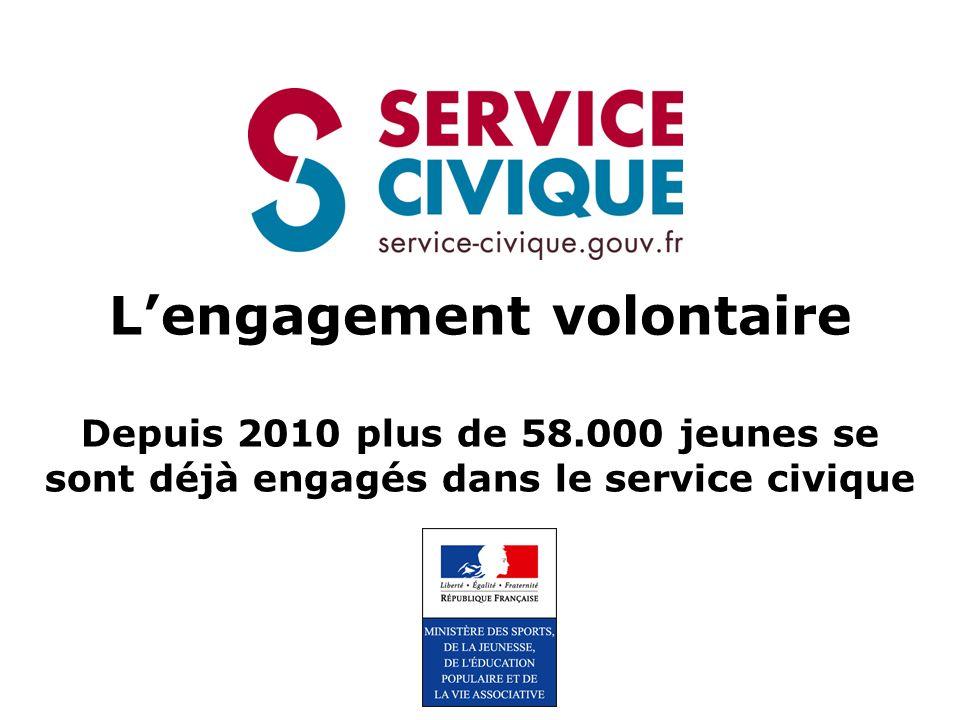 L'engagement volontaire Depuis 2010 plus de 58