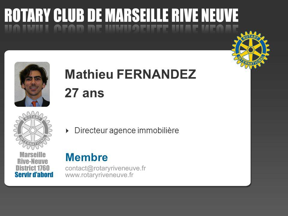 Mathieu FERNANDEZ 27 ans Directeur agence immobilière 4 Membre