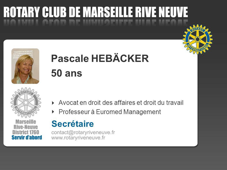 Pascale HEBÄCKER 50 ans Secrétaire
