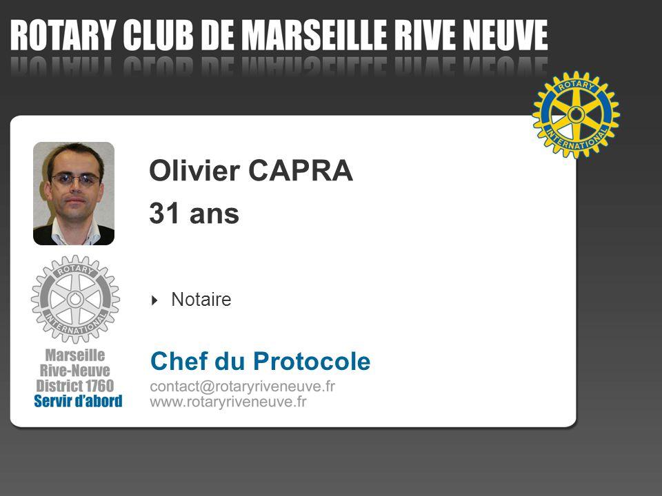 Olivier CAPRA 31 ans Notaire 4 Chef du Protocole