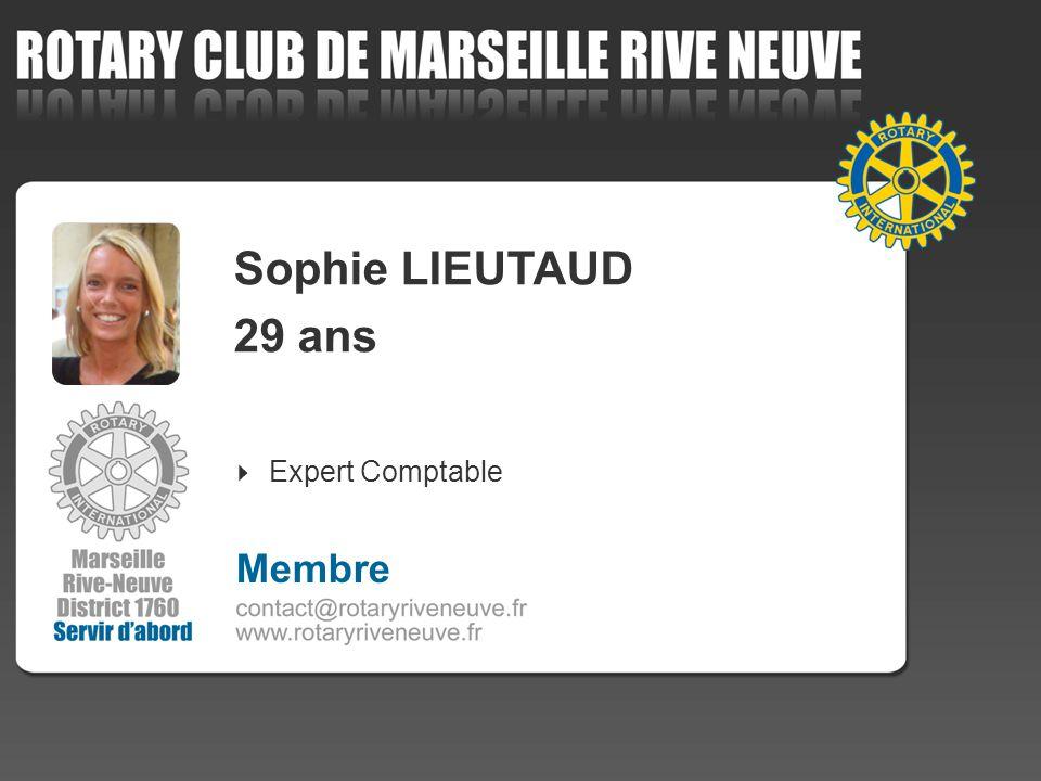 Sophie LIEUTAUD 29 ans Expert Comptable 4 Membre