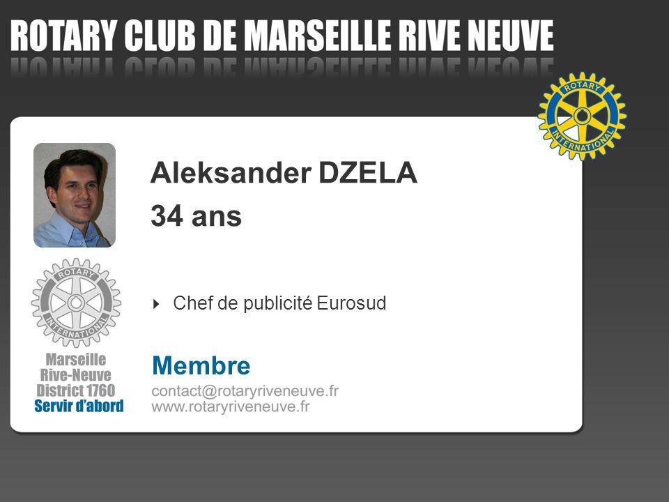 Aleksander DZELA 34 ans Chef de publicité Eurosud 4 Membre