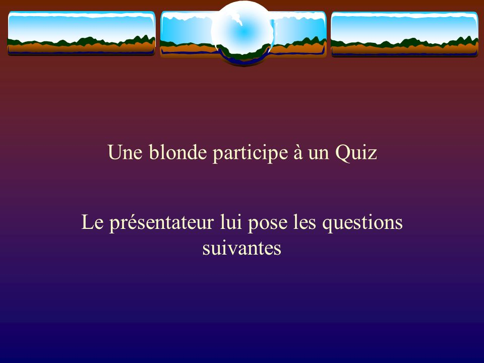 Une blonde participe à un Quiz