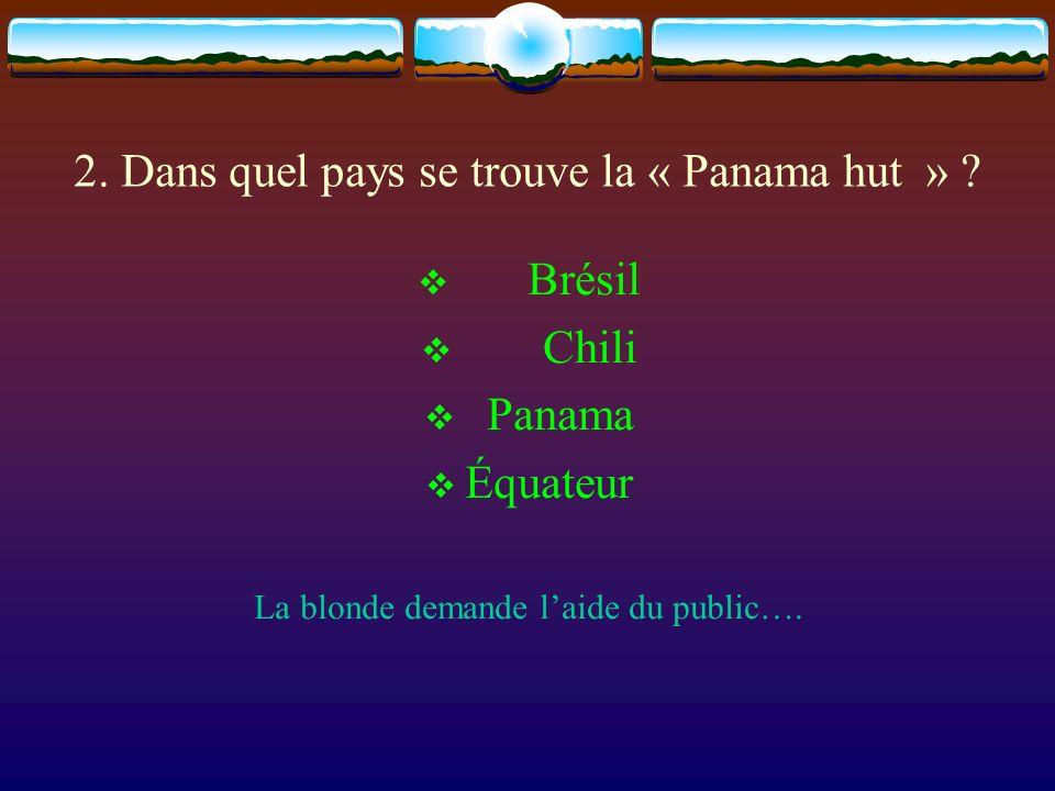 2. Dans quel pays se trouve la « Panama hut »