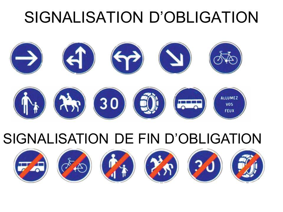 SIGNALISATION D'OBLIGATION