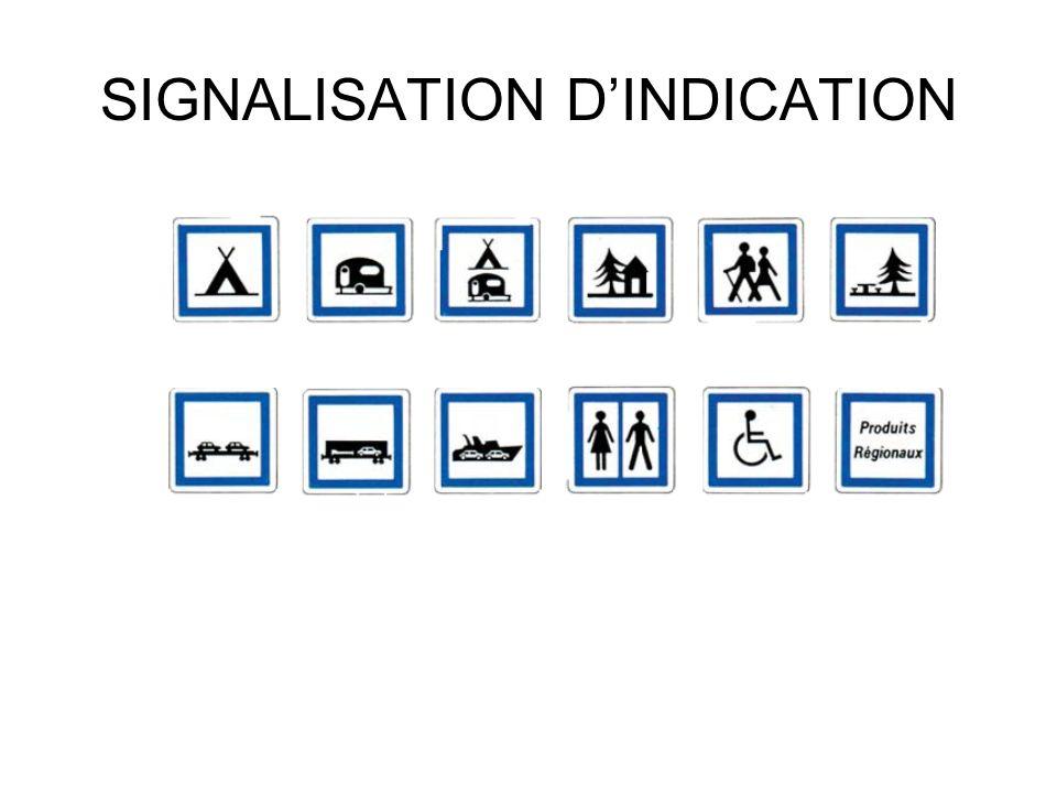 SIGNALISATION D'INDICATION