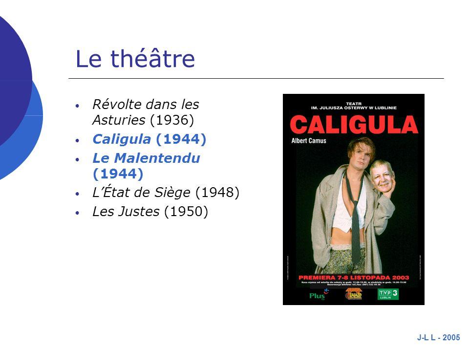 Le théâtre Révolte dans les Asturies (1936) Caligula (1944)