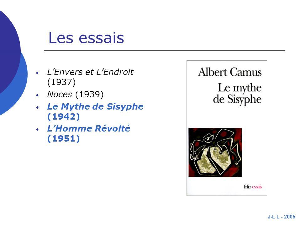 Les essais L'Envers et L'Endroit (1937) Noces (1939)