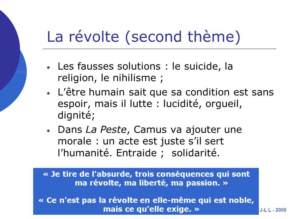 La révolte (second thème)