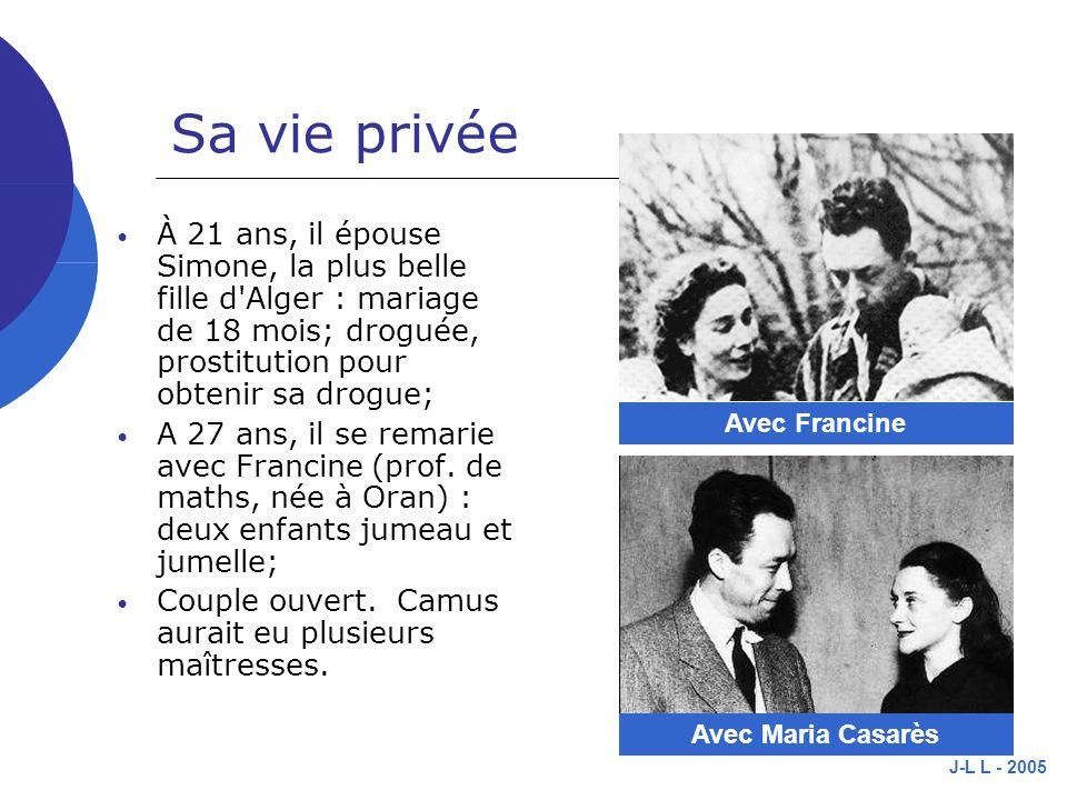 Sa vie privée Avec Francine.