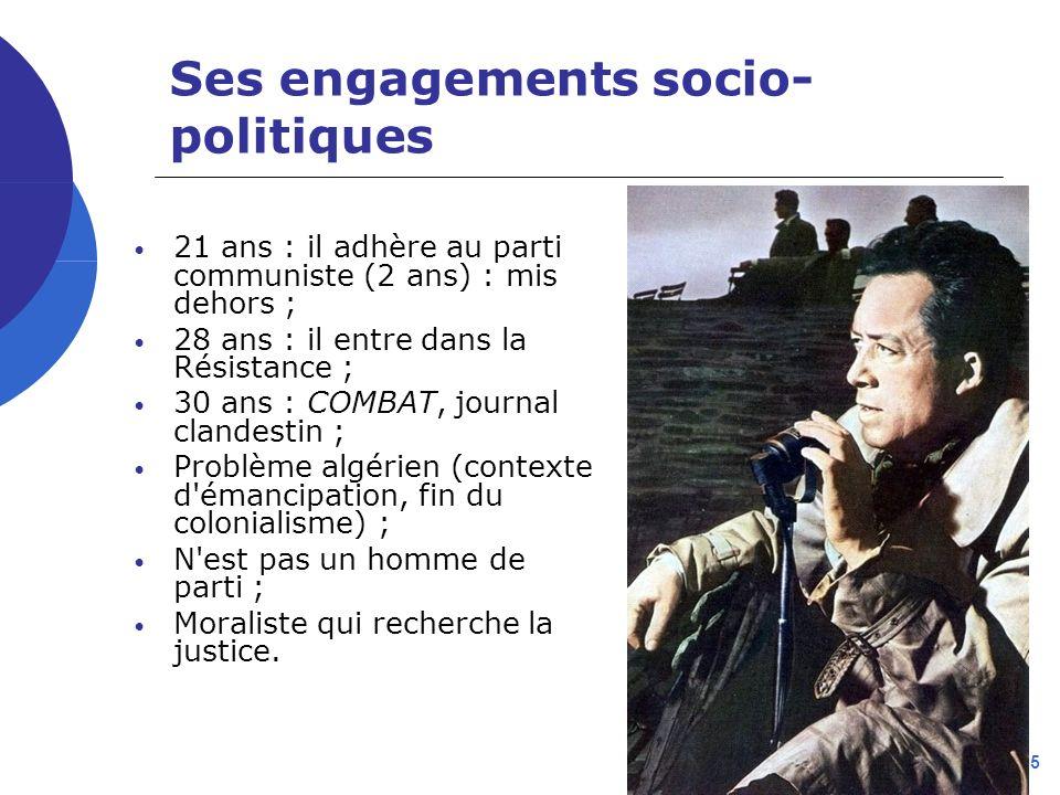 Ses engagements socio-politiques