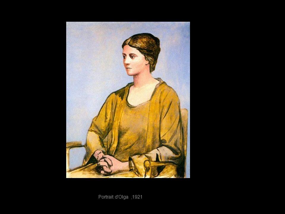 Portrait d Olga ,1921