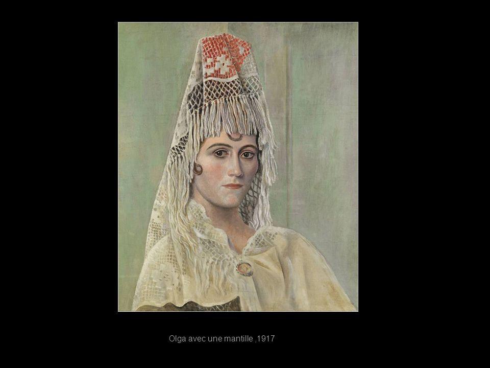 Olga avec une mantille ,1917