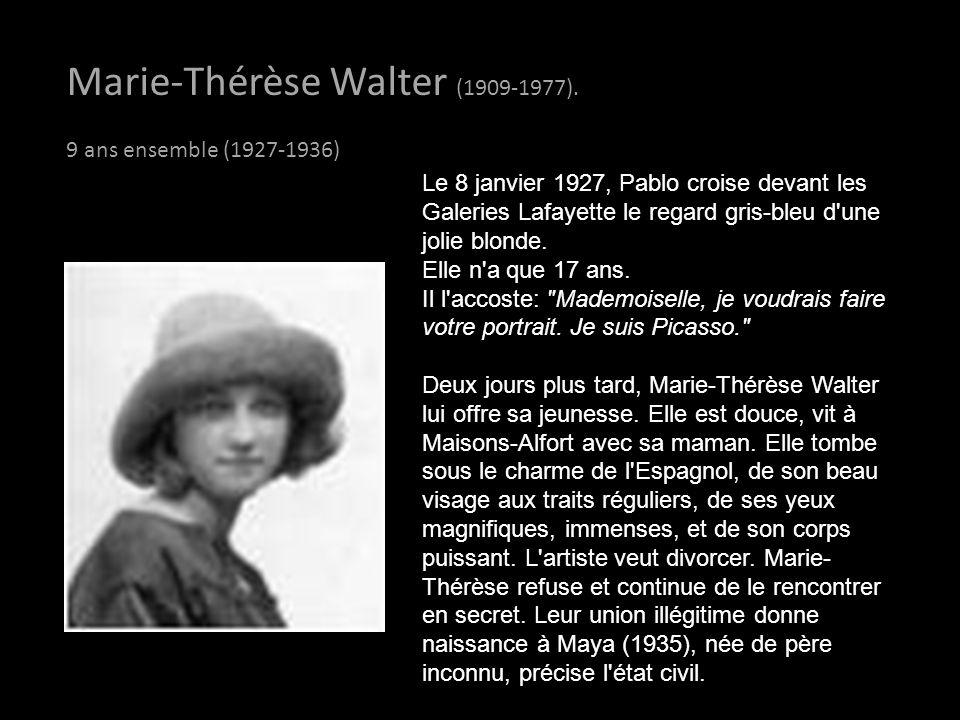 Marie-Thérèse Walter (1909-1977).