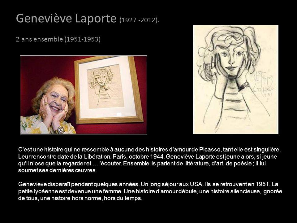 Geneviève Laporte (1927 -2012). 2 ans ensemble (1951-1953)