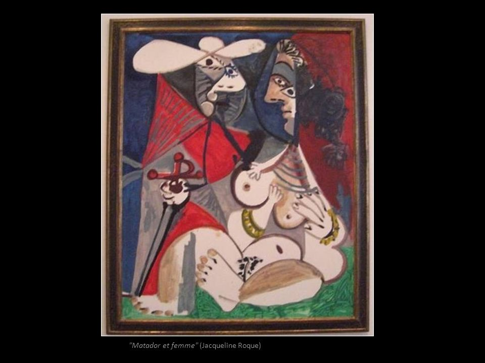 Matador et femme (Jacqueline Roque)