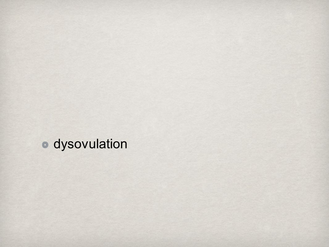 dysovulation