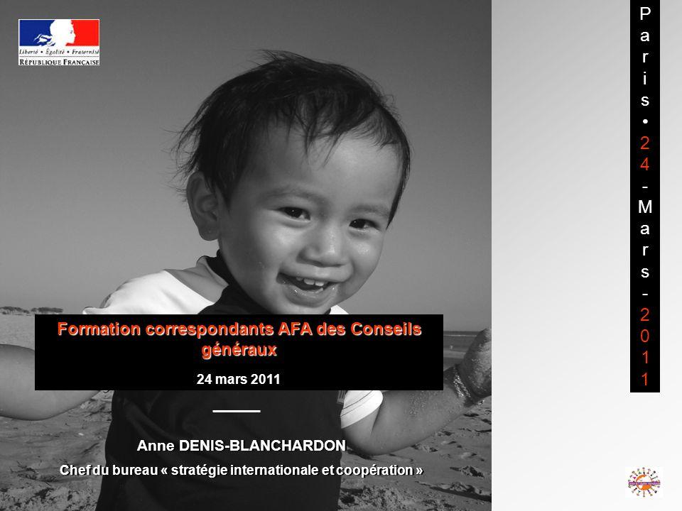 Pa r. i. s. 2. 4. - M. a. 2011. Formation correspondants AFA des Conseils généraux. 24 mars 2011.