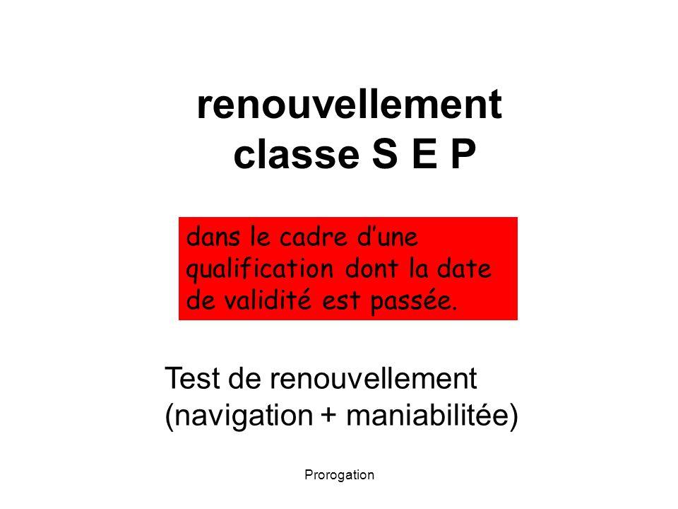 renouvellement classe S E P
