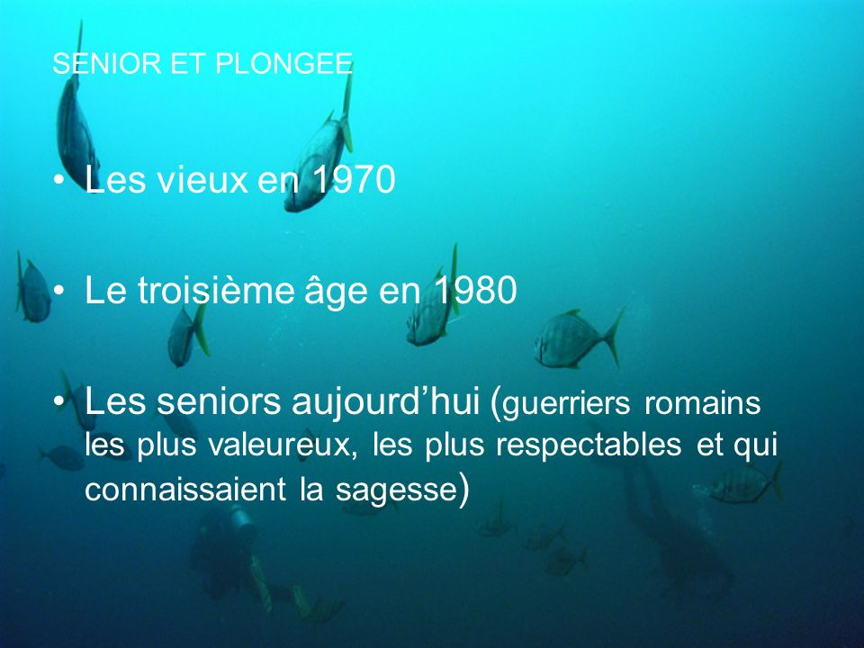 Les vieux en 1970 Le troisième âge en 1980