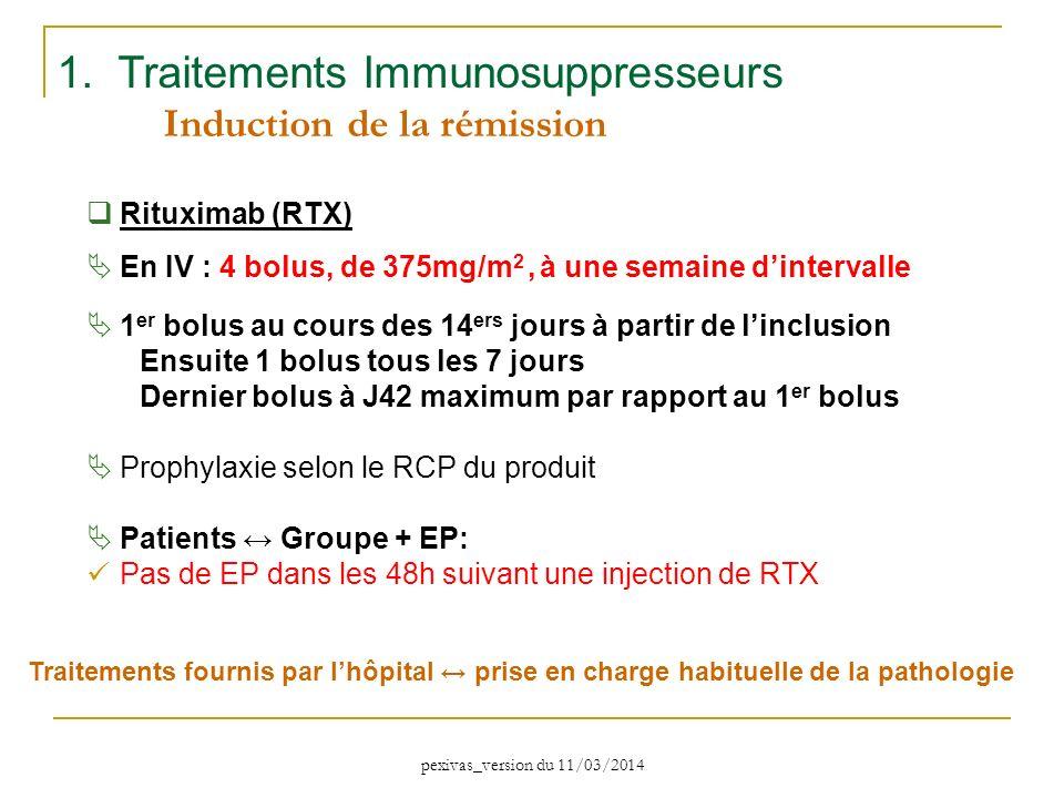 1. Traitements Immunosuppresseurs