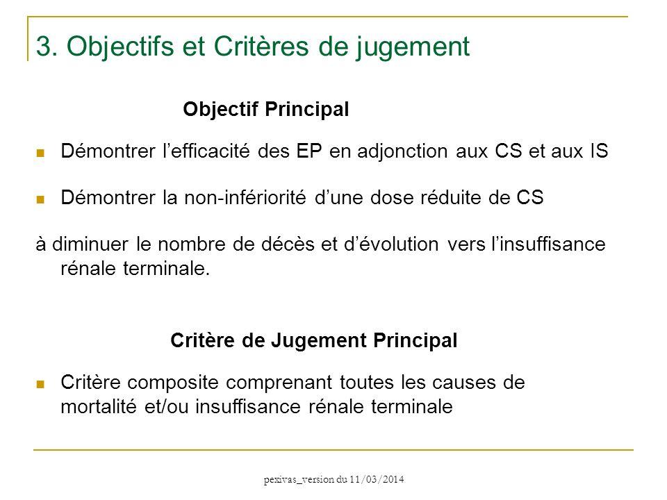 3. Objectifs et Critères de jugement