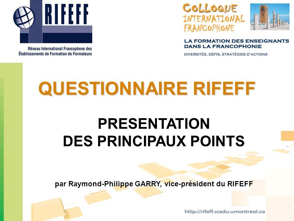 par Raymond-Philippe GARRY, vice-président du RIFEFF