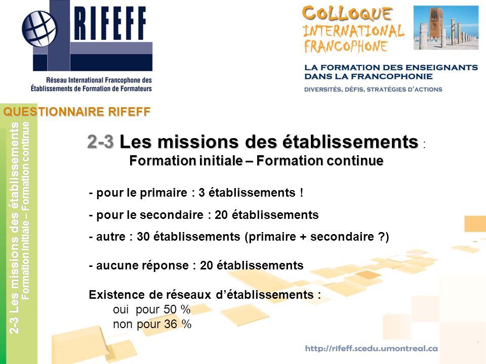 Formation initiale – Formation continue