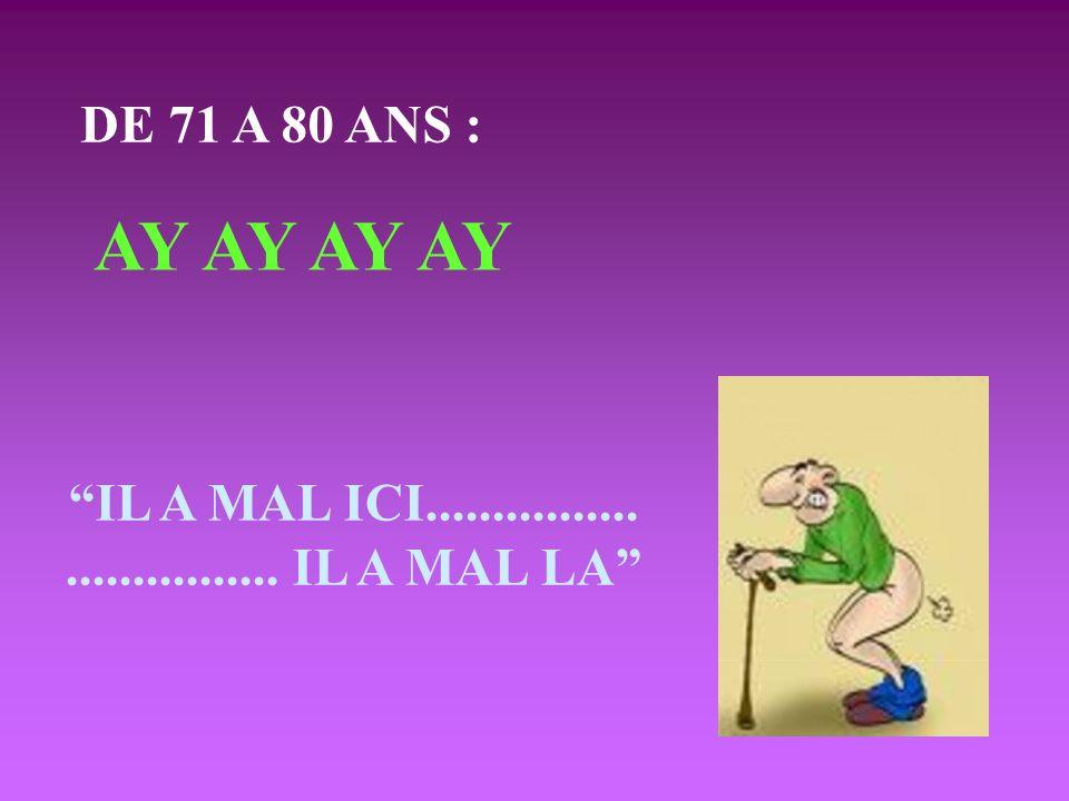 AY AY AY AY DE 71 A 80 ANS : IL A MAL ICI................