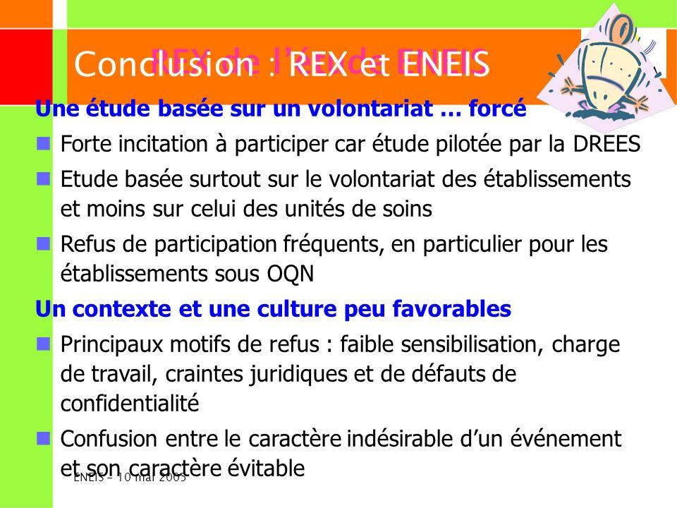 Conclusion : REX et ENEIS