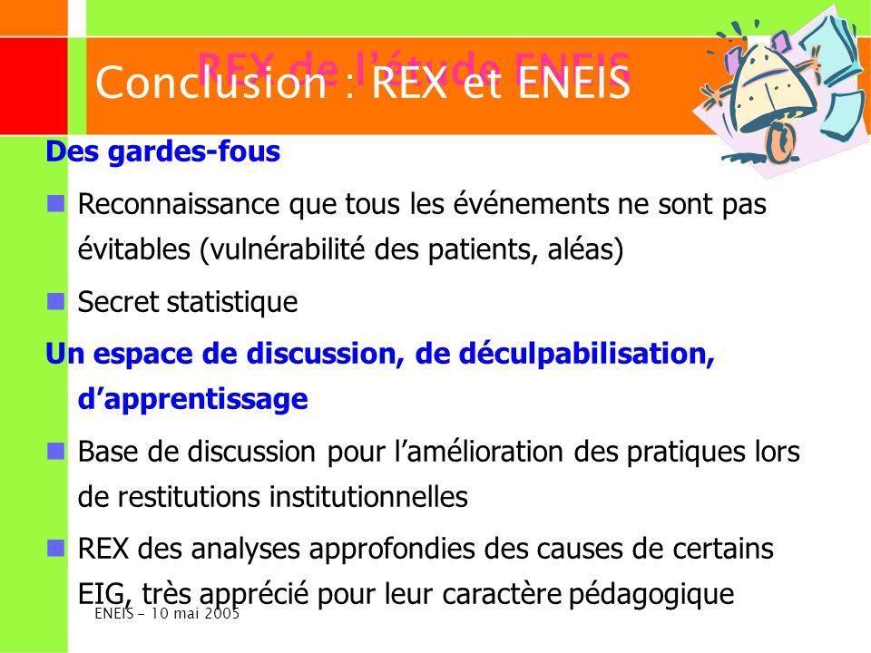 Conclusion : REX et ENEIS REX de l'étude ENEIS