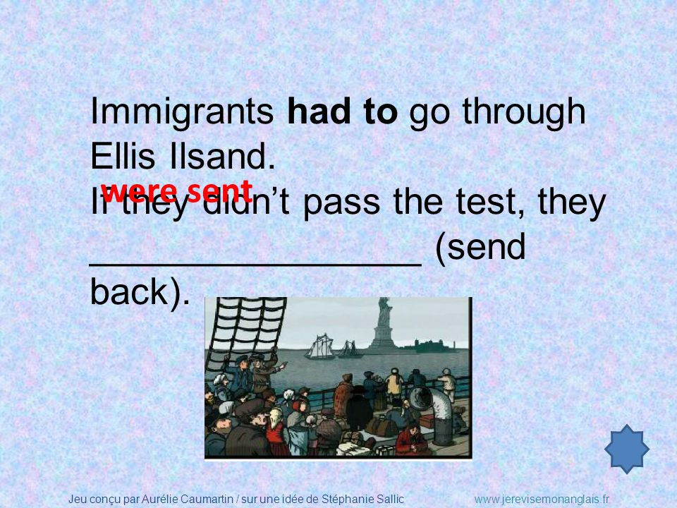 Immigrants had to go through Ellis Ilsand.