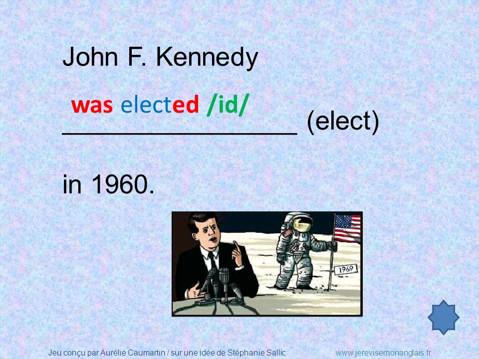 John F. Kennedy ________________ (elect) in 1960. was elected /id/