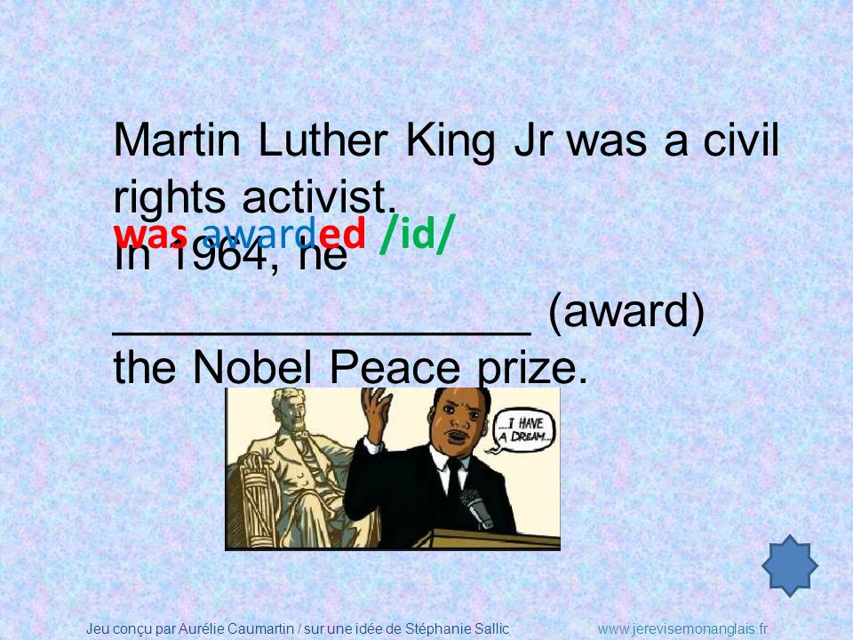 Martin Luther King Jr was a civil rights activist.