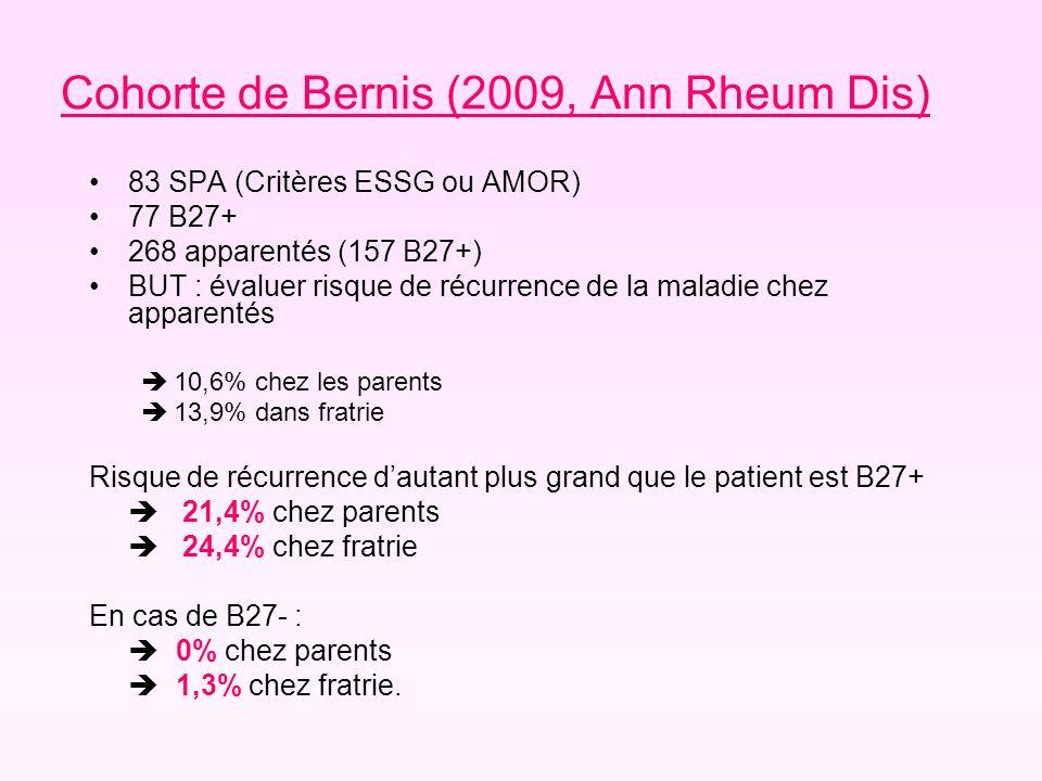 Cohorte de Bernis (2009, Ann Rheum Dis)