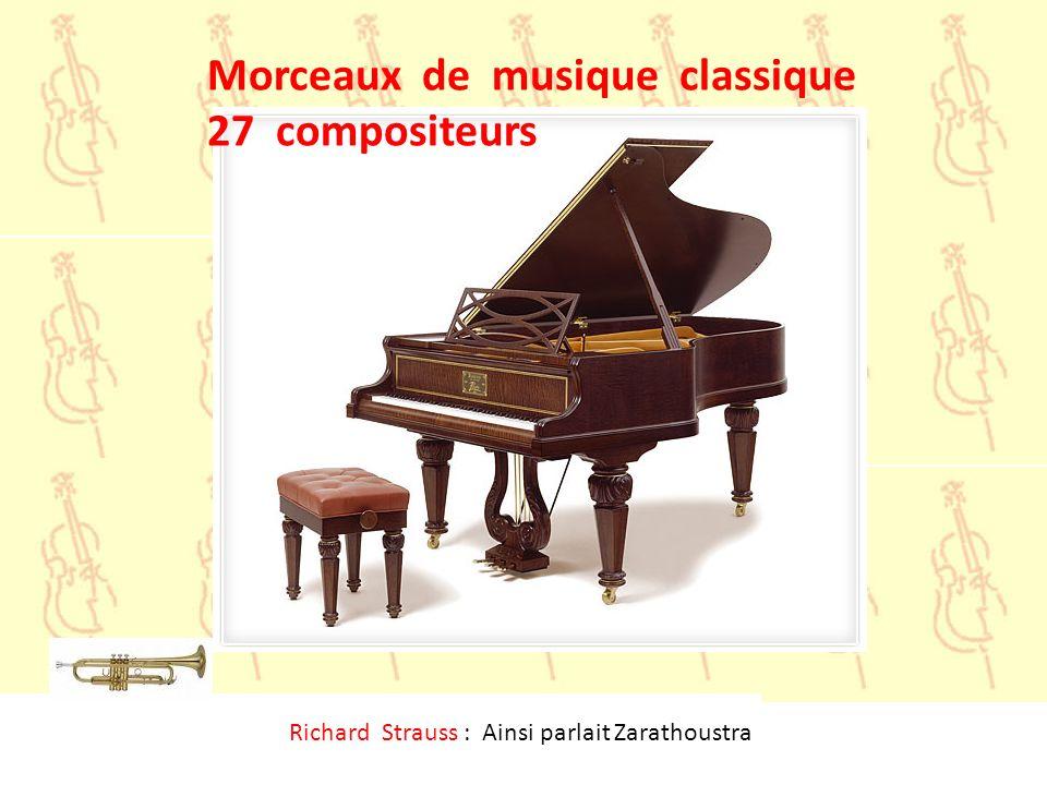 Morceaux de musique classique 27 compositeurs
