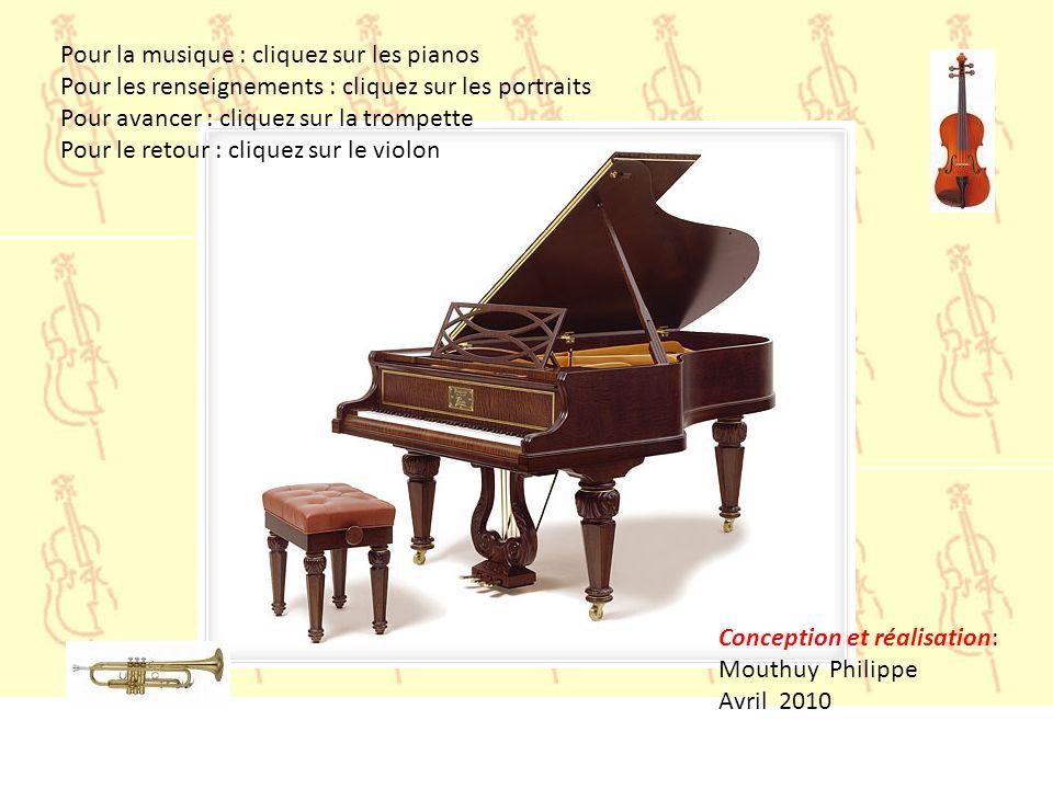 Pour la musique : cliquez sur les pianos
