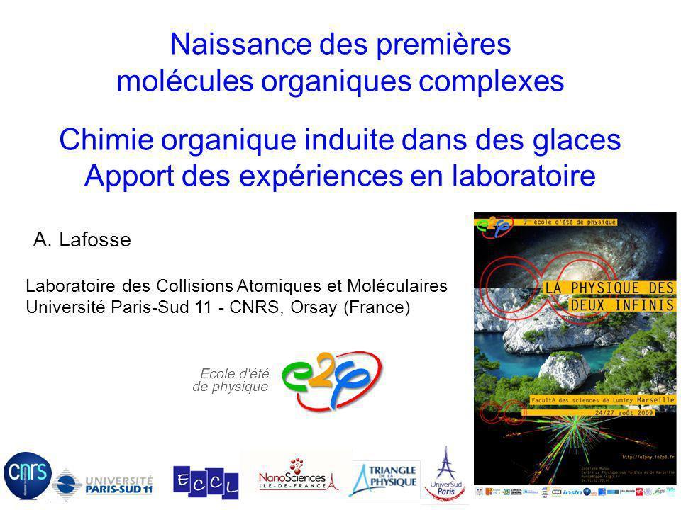 Naissance des premières molécules organiques complexes