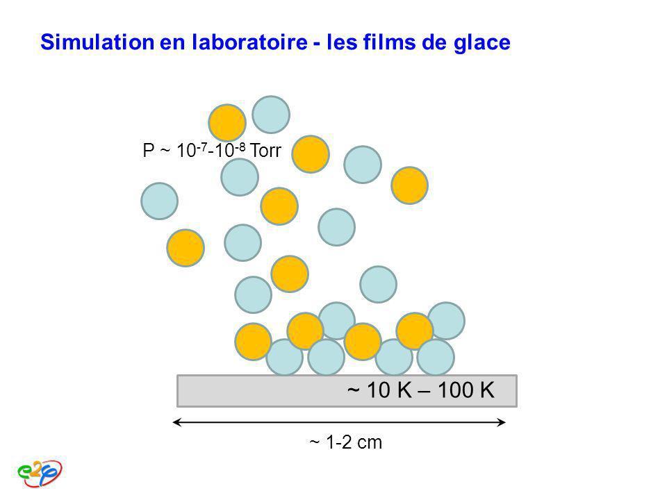 Simulation en laboratoire - les films de glace