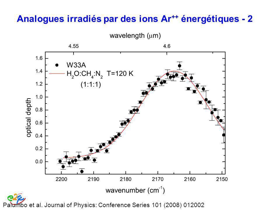 Analogues irradiés par des ions Ar++ énergétiques - 2