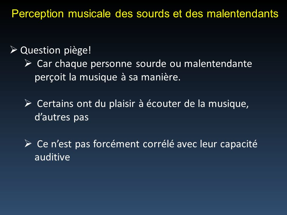 Perception musicale des sourds et des malentendants