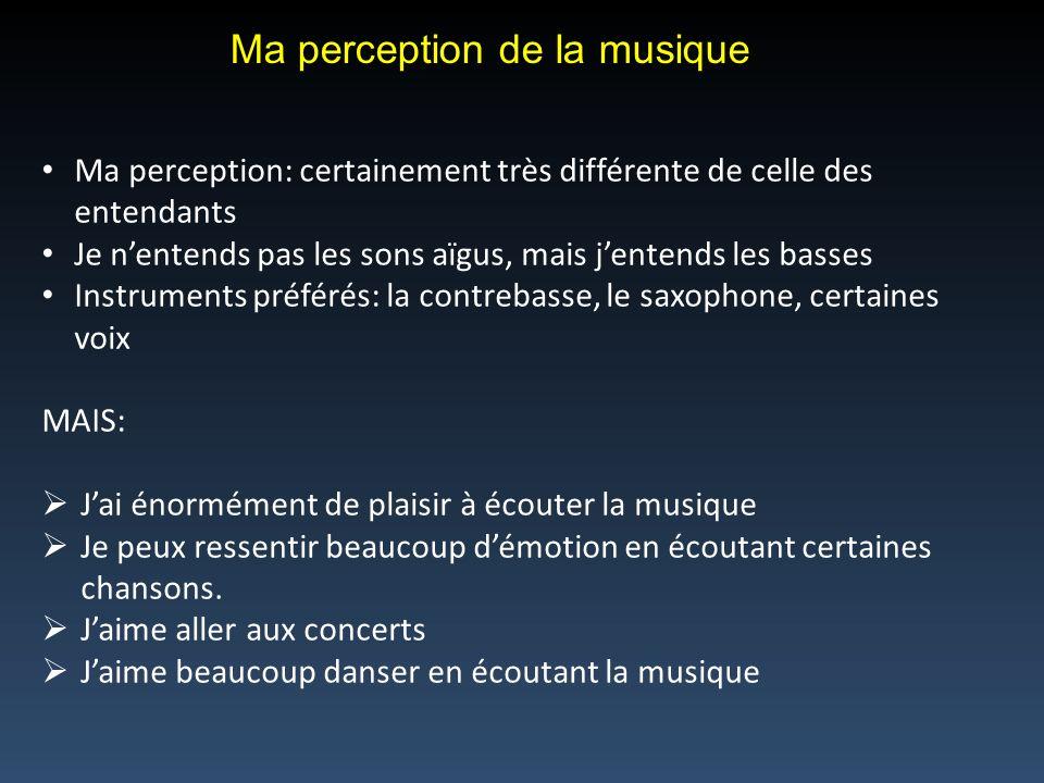 Ma perception de la musique