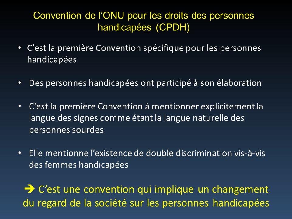 Convention de l'ONU pour les droits des personnes handicapées (CPDH)