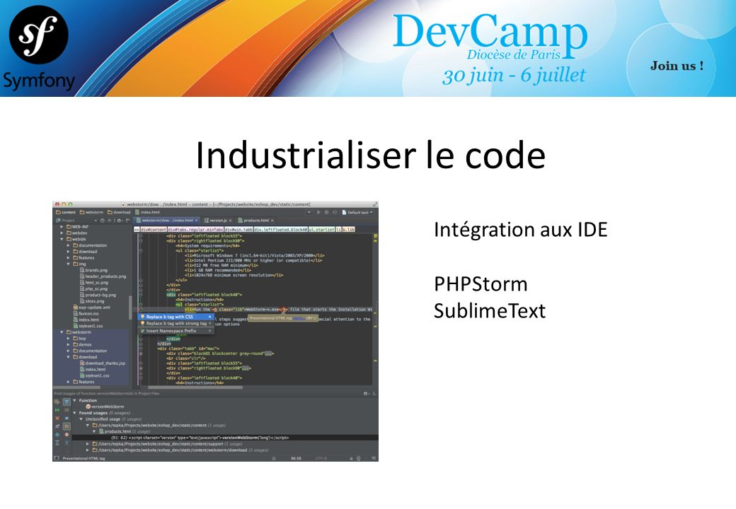 Industrialiser le code