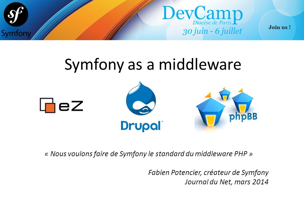 Symfony as a middleware