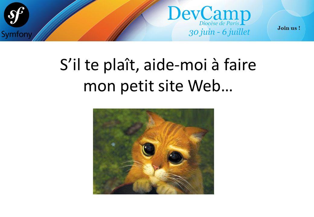 S'il te plaît, aide-moi à faire mon petit site Web…