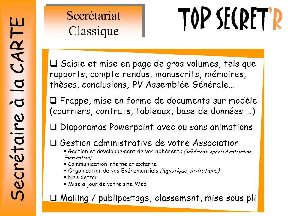 Secrétariat Classique
