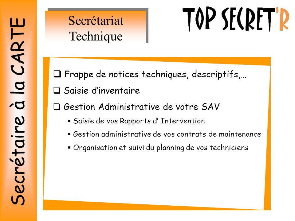 Secrétariat Technique